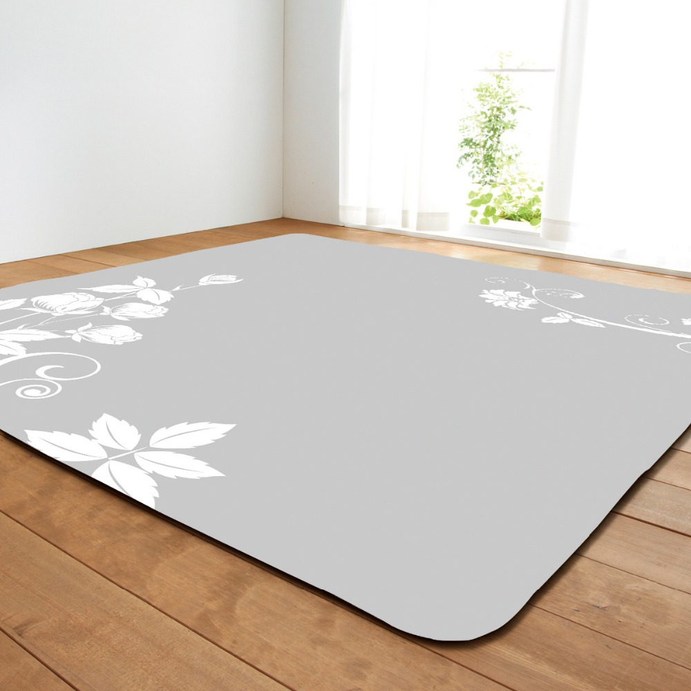 Tapis de dessin coloré pour salon maison tapis fleuri tapis pour chambre zone douce tapis antidérapant grande taille canapé tapis Pad