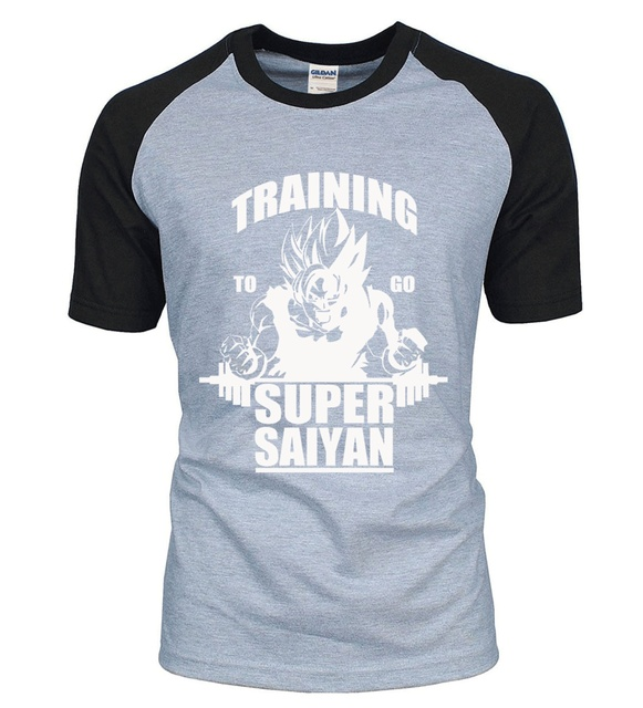 Adult Anime Dragon Ball Super Saiyan t shirt 2016 new summer 100% cotton high quality raglan men t-shirt casual top tees S-2XL