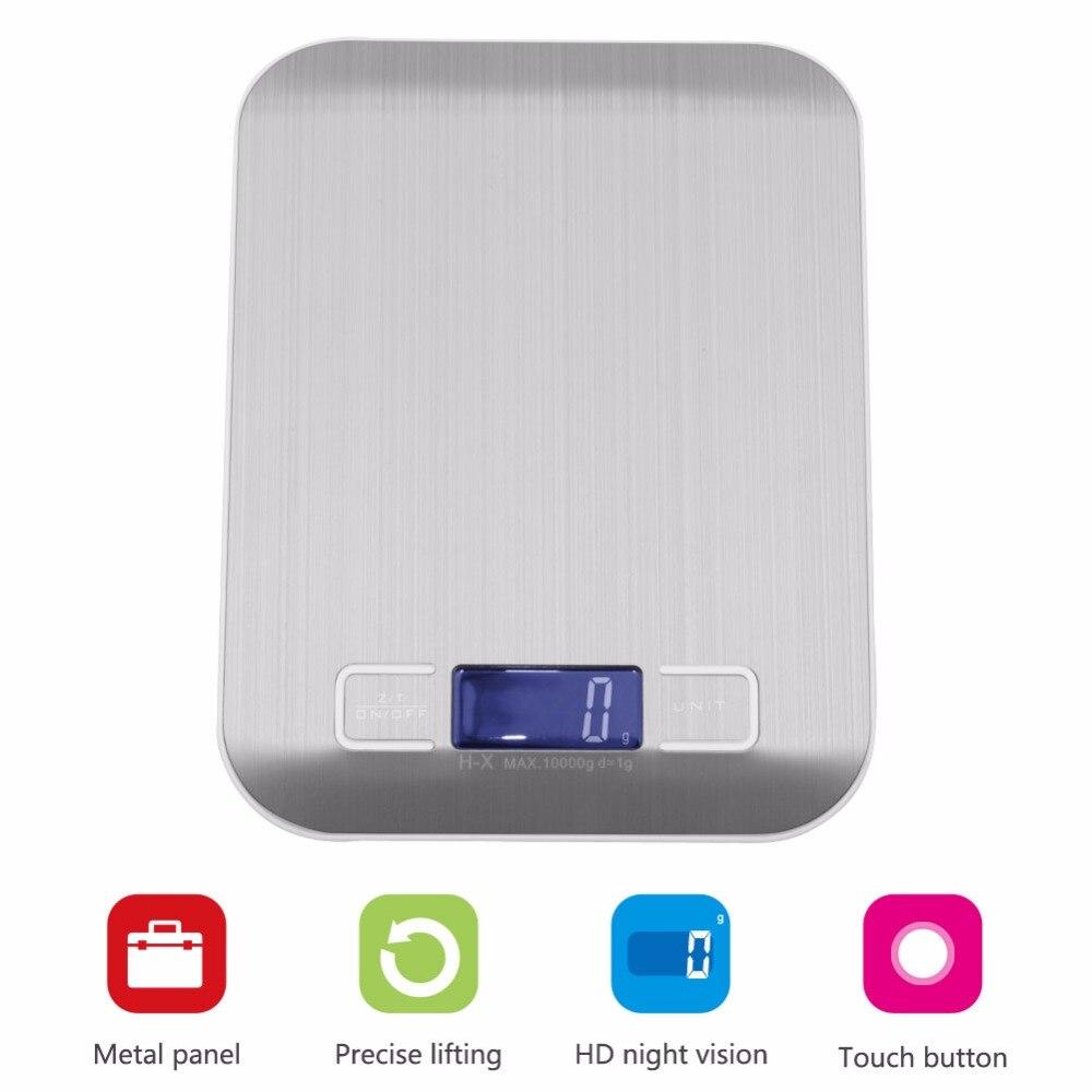 Высокоточные весы 10 кг/1 г, качественные электронные весы, портативные цифровые весы для кухни 1000 г-1 г-2