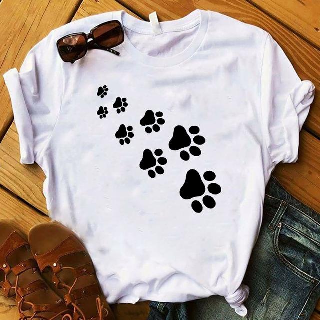 Loose Dog Patterned T-Shirt