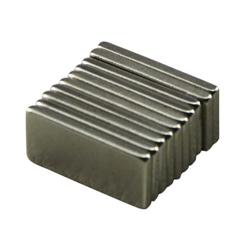 10pcs/Lot Strong Block Cuboid Fridge Magnets Rare Earth Neodymium Magnet 20x10x2 mm greeting word style fridge magnets 4 pack