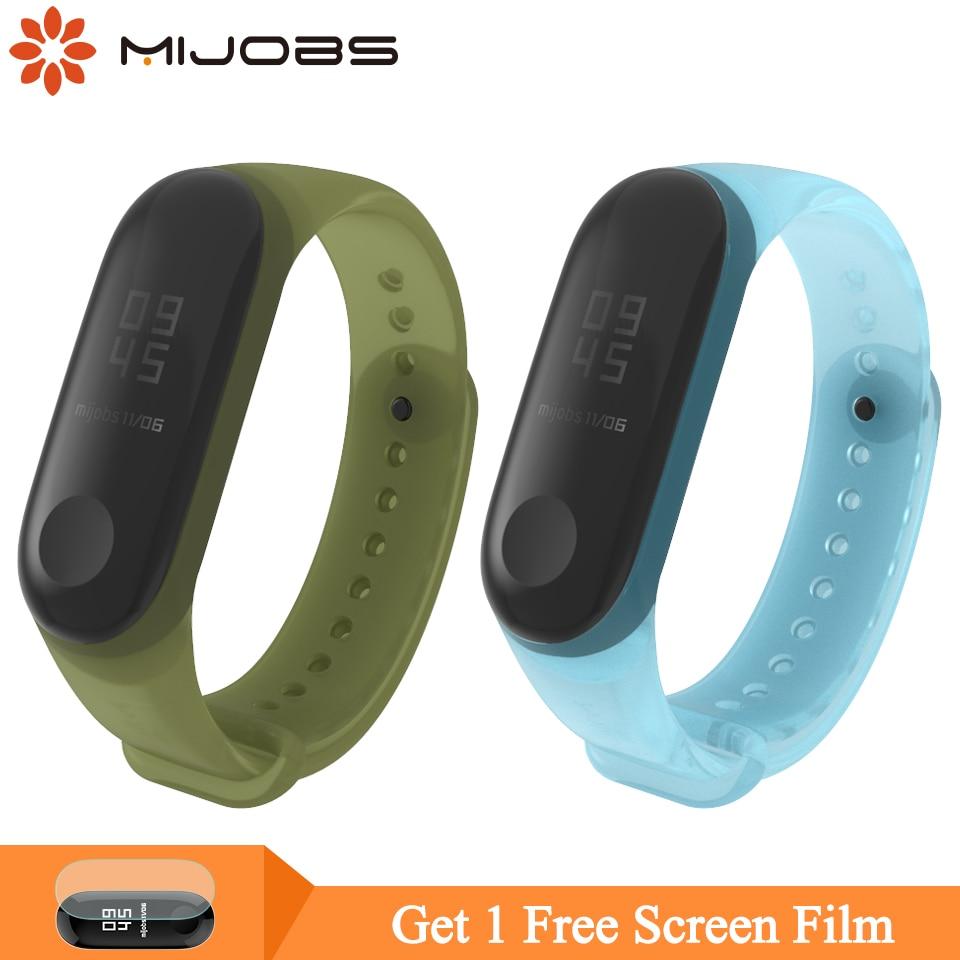 Mijobs Mi Band 4 Wrist Strap Colorful Silicone Strap For Xiaomi Mi Band 4 3 Bracelet Wristband Miband 3 Smart Watch Accessories