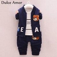 Dulce Amor Autumn Kids Clothing Baby Boy Girl Clothes Set Children Sports Suits 3PCS Set Embroidery