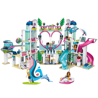 1039pcs Friends the Heartlake City Resort House Model Building Block Compatible Legoingly Friends Bricks Toys For Girls Gifts