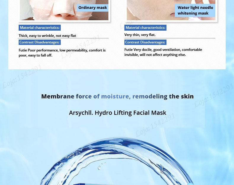 Hyaluronic acid natural silk moisturizing facial masks woman cleansing purifying pores acne whitening face skin care beauty mask 21