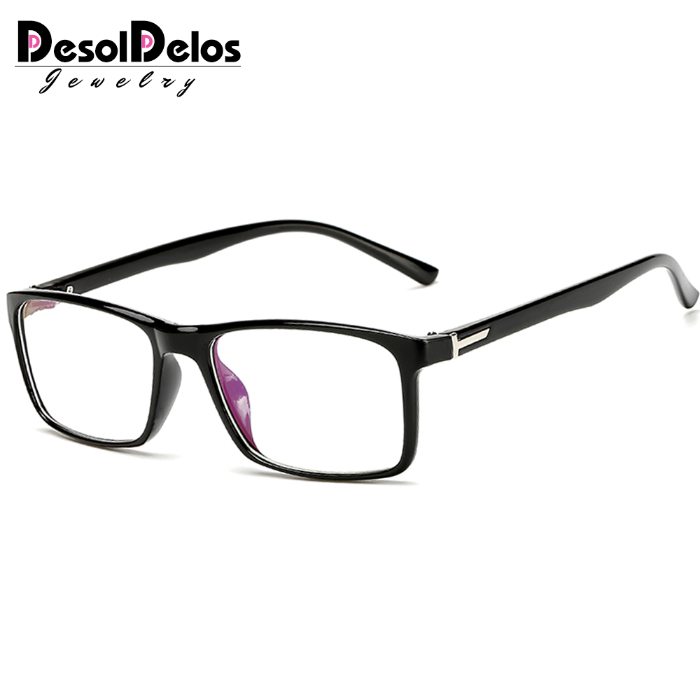Retro Rectangle Glasses Frame Women Vintage Brand Black RedEyeglass Men Transparent Lens Eyewear Accessories 2019 New