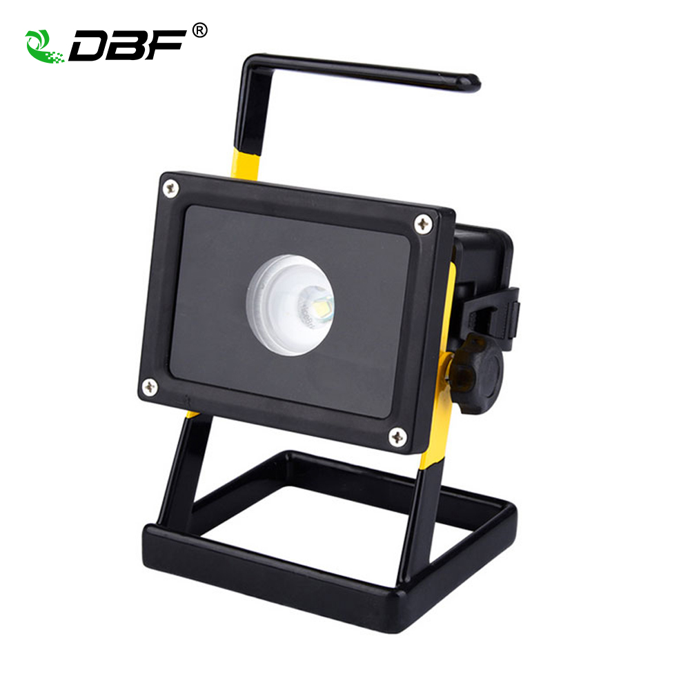 [DBF]Waterproof IP65 30W LED Floodlight Portable Rechargeable Emergency Work Outdoor Cree XM-L2 LED Flood Light 3 Modes+Charger