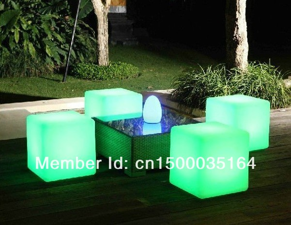 Free Shipping Led Illuminated Furniture,waterproof Outdoor Led Cube 30*30CM Chair,bar Stools, LED Seat For Christmas BY EMS