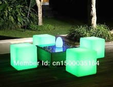 Free Shipping led illuminated furniture,waterproof outdoor led cube 30*30CM chair,bar stools, LED Seat for Christmas BY EMS 30cm led light cube lumineux led rechargeable cube illuminated cube chair free shipping