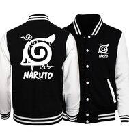 2017 Hot Sale Anime Uzumaki Naruto Sweatshirts Konoha Printed Unisex Baseball Jackets Spring Autumn Tracksuits Men
