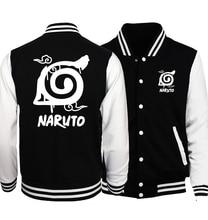 2019 Hot Koop Anime Uzumaki Naruto Sweatshirts Konoha Gedrukt Unisex Baseball Jassen Lente Herfst Trainingspakken Mannen Vrouwen Hoodies