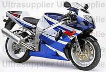 Blue & White Complete Injection Fairing ABS Plastic Bodywork Kit for 2001-2003 Suzuki GSXR 600 750 2002 GSXR600 GSXR750(China)