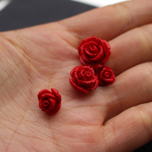 """20 штук 8 10 12 14мм, циннабар резные розы бусины для ювелирные аксессуары ‒ Серёжки """"сделай сам"""""""