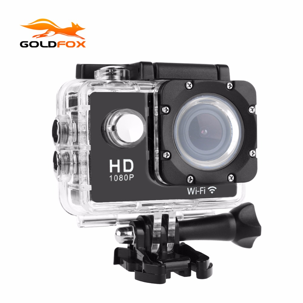 GOLDFOX 1080P Full HD WIFI Action Camera 30M Go Waterproof Pro Sports DV Video Cam Bike Helmet Mini Cameras With Retail Packing eken mini sports action cameras h9 h9r wide angle 4k 25fps hd video helmet cam 2 0 go underwater pro vr go pro cameras