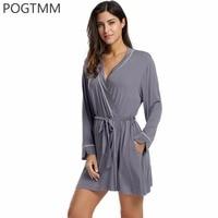 Winter Bathrobes Women S Home Warm Kimono Robe Femme Long Sleeve Lace Up Belted Sleepwear Short