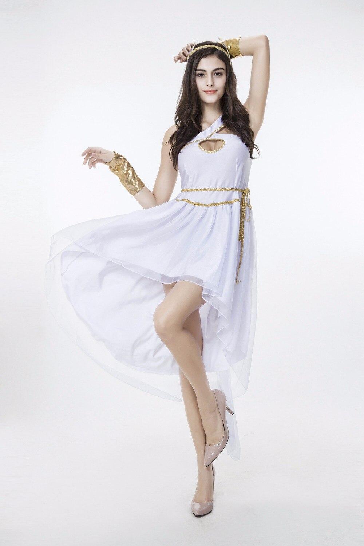 Griechischen Göttin Sexy Cosplay Kleidung Gesetzt Weiß Lose Kleid ...