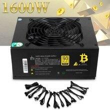 90 Плюс КПД 1600 Вт модульная PC Питание 12 В 24PIN 8PIN для Miner добыча высокое качество компьютера Питание для BTC