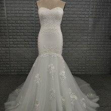 NOBLE BRIDE 2019 Mermaid Wedding Dress Chapel Train