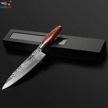 FINDKING Новый дамасский стальной нож цвет деревянной ручкой форма камня 8 дюймов дамасской поварской нож 67 слоев дамасской стали
