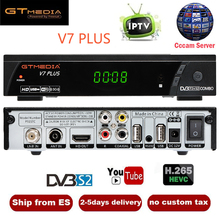 100% Original 2018 New Arrival GTMEDIA V7 PLUS DVB-S2 DVB-T2 Satellite TV Combo Receiver Support H.265+Spain Italy Cccam 5 Cline