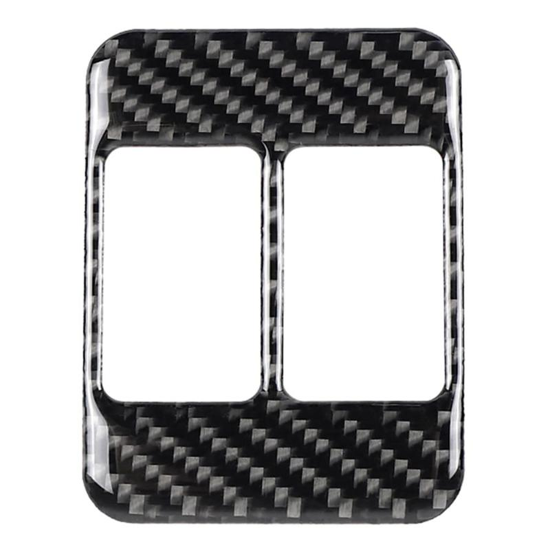 Carbon Fiber Seat Heating Button Frame Cover For Subaru BRZ Toyota 86 Car