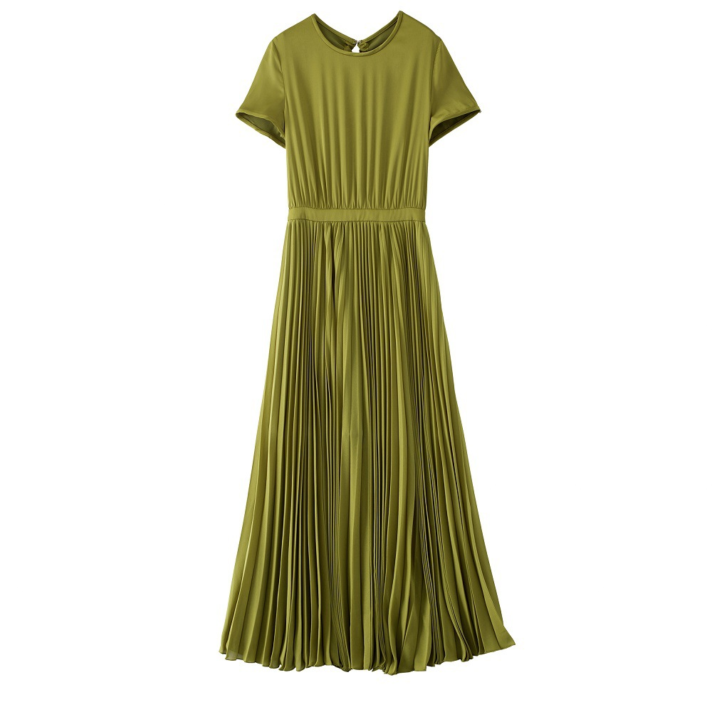 Plis 2018 Qualité Deux Femmes Dos Longue couleur Pour Vêtements Vert Noir Nu Français Noir Style Haute Formelle vert Nouveau Bowknot Déesse Et Robes pqwaYg8xE