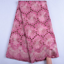 African Dry Cotton Lace Fabrics 2019 High Quality Embroidery Lace Swiss Voile Lace Stone Swiss Voile Lace In Switzerland Y1558