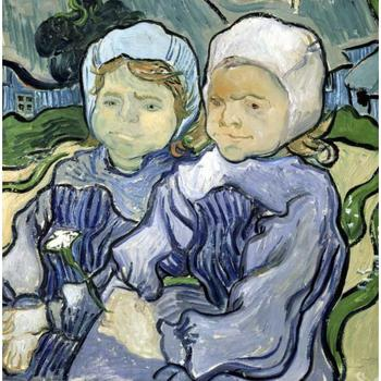 Hand Painted Oil paintings Vincent Van Gogh Canvas art Two Little Girls High quality home decor