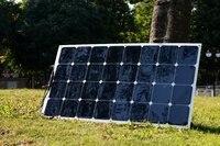 2 шт. 100 Вт полу гибкие солнечные назад контакт тонкие солнечные панели Сделано с США высокая эффективность солнечной энергии ячейки 200 вт па