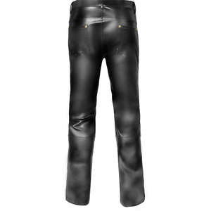 Image 5 - Mens Lingerie Wetlook Slim Fit Shiny Patent PVC Leather Latex Nightclub Party Tight Pants Leggings Trousers with Open Penis Hole