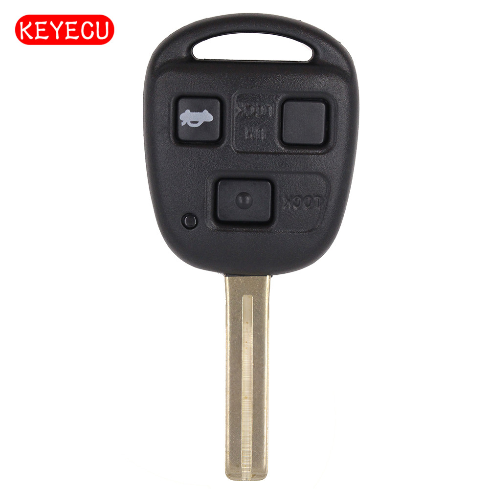 Keyecu Replacement 3 Button Remote Key Control 314.3MHz 4D68 chip for Lexus ES300 GS300 GS400 IS300 HYQ1512V Short Blade TOY48 toy48