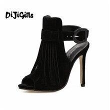 DiJiGirls US4-9 D été Style femmes de haute talons dames célébrité Boucle  Strap Concise Gland Peep Toe chaussures femme sandales 56e065a81c68