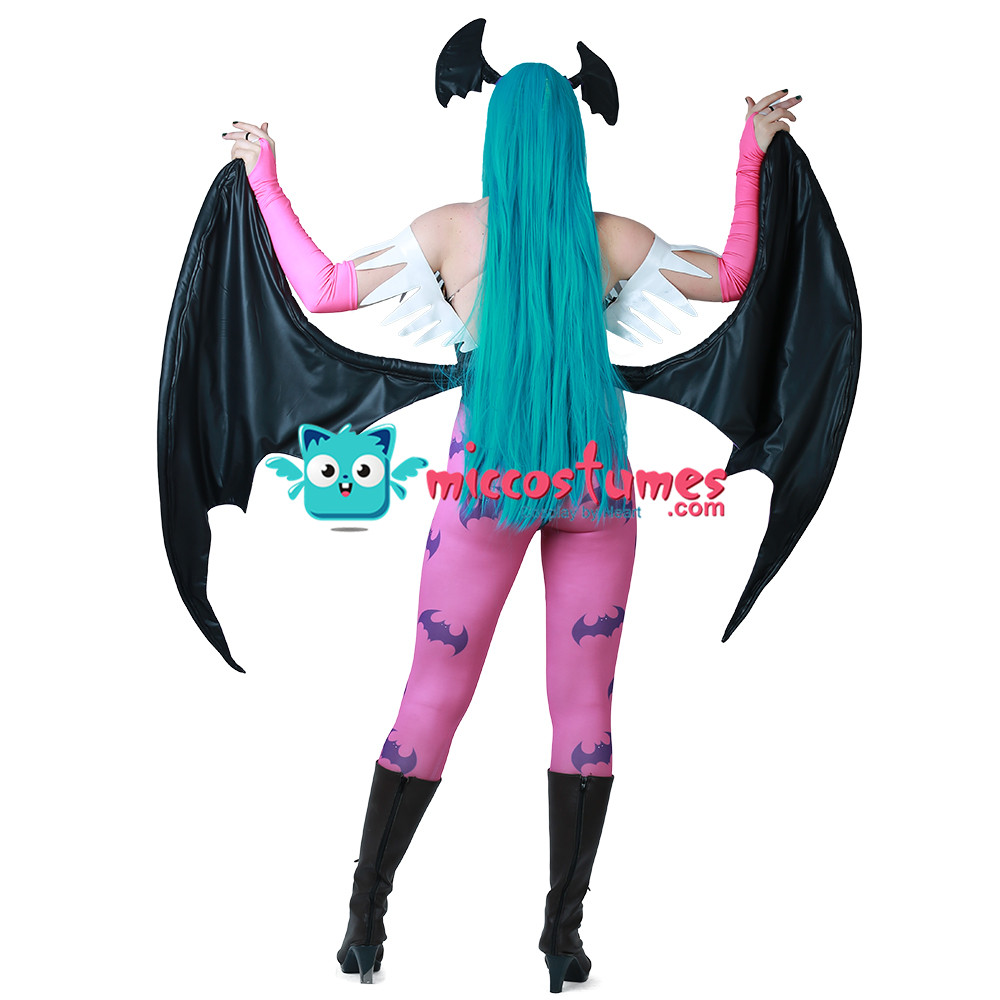 Image 3 - Morrigan Aensland Cosplay Costume with Wings Whole Set Outfit-in Movie & TV costumes from Novelty & Special Use