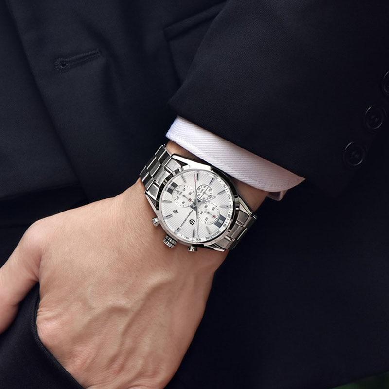 Men Watch Luxury Brand PAGANI DESIGN Staniless Steel Business Watches Men Storts Quartz Wristwatch Clock Male Reloj Hombre 2018 in Quartz Watches from Watches