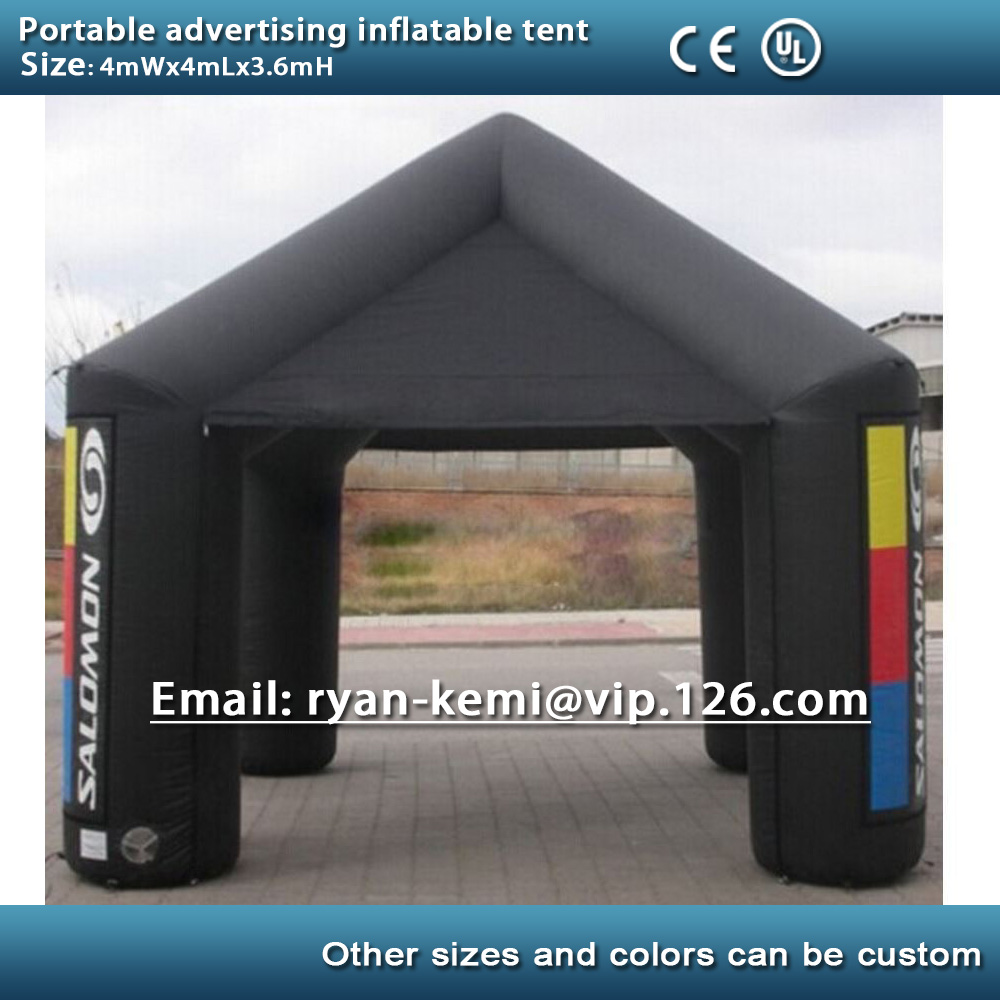 13ft 4m portable advertising inflatable tent inflatable canopy inflatable exhibition trade show tent with CE/UL blower trade show exhibition tent commercial advertising inflatable tent house for event china factory outdoor inflatable igloo tent