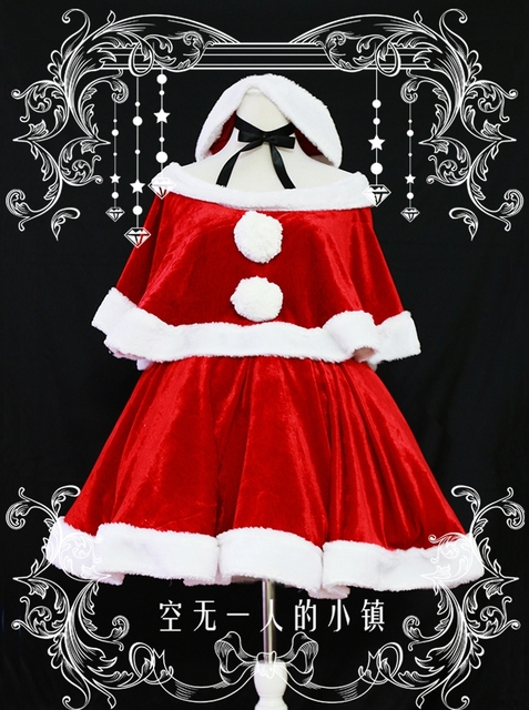 Chobits Chii PS2 Christmas Cosplay Dress Costume Party Lolita Dress Custom- made Any Size Free 062f0892ad6c