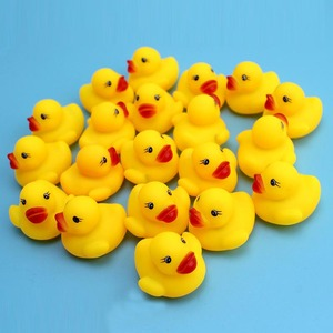 20pcs/set Baby Bath Quality harmless rubber new 2015  Rubber Race Ducks  Sound Toy 3.5*3.5CM  Free Shipping