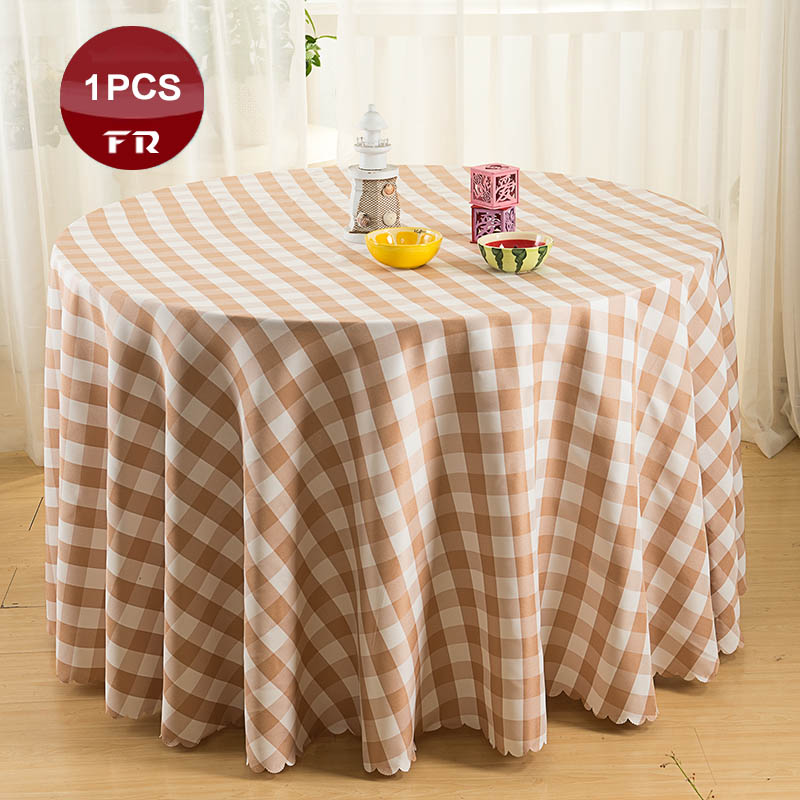 2016 Big Promotion 1pc Polyester Table Cloth Round Plaid
