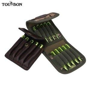 Tourbon аксессуары для охотничьего ружья, держатель для патронов, камуфляжный чехол для патронов, кошелек, сумка из натуральной кожи, 2 шт.