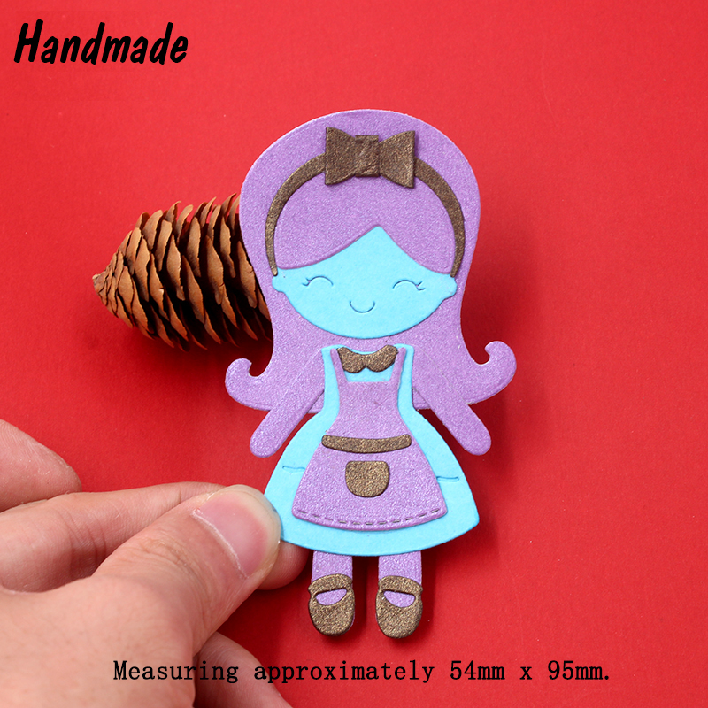 Metal Baby Girl Infancia Scrapbooking Die Cuts Craft Decorativo DIY Carpeta de grabación en relieve Traje Troquelado Tarjetas de papel