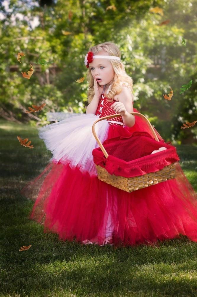 Moeble Kiçik Qırmızı papaq Qız Tutu Donu Tüklü Körpə Tül - Uşaq geyimləri - Fotoqrafiya 6