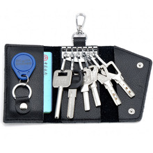 2016 Key Holder Wallet 100 Genuine Leather Unisex Keysmart Solid Key Wallet Organizer Bag Car Housekeeper