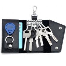 2016 Key Holder Wallet 100% Genuine Leather Unisex Keysmart Solid Key Wallet Organizer Bag Car Housekeeper Wallet Holder