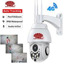 4G Móvel 1080P Mini Smart Speed Dome Câmera IP com Day & Night Full Color 4x Zoom Digital gravação nuvem APP Gratuito À Prova D' Água