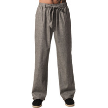 Top Quality Gray Chinese Men's Kung Fu Trousers Cotton Linen Pants Wu Shu Clothing Size S M L XL XXL XXXL