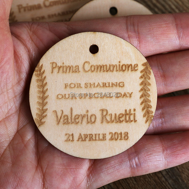 US $919 8 OFF Personalized Rustic Wedding decor Wooden Thank you gift  tags,party engagement bridal shower tags,baseball thank you wedding tag-in