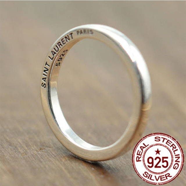 925 Pure Silver Ring Vintage Hipster Minimalist Men Women S Rings Sterling Old Gift Your Lover Party