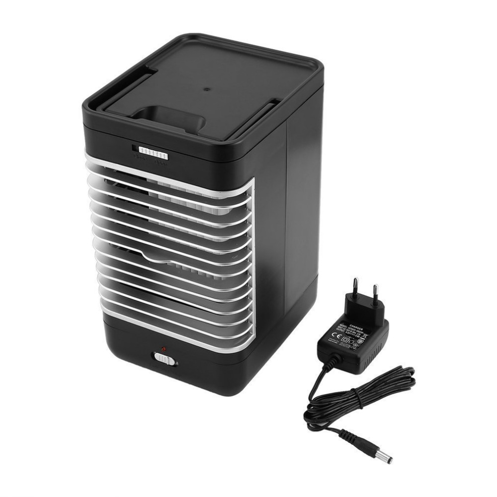 Evaporative Air Conditioner Air Cooler Fan Indoor Portable Cool Humidifier Battery Operated with Quiet 2 Speed Air Cooling Fan universal dc 12v evaporative air conditioner 35w black portable mini cooling conditioner water evaporative car air fan