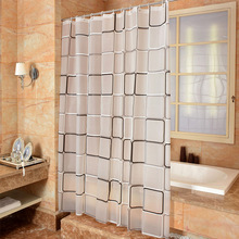 купить New Bathroom Shower Curtain Classic Grid  PEVA Toilet Partition Curtain Waterproof Mouldproof Thickening по цене 1070.49 рублей