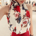 Blusas Femininas  Summer Women Casual OL Chiffon Blouses Print Sleeveless Shirt Women Tops women blouse